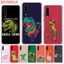Dinosaur Cute Cool Phone Case for Huawei P30 P20 Mate 20 10 Pro P10 Lite P Smart + Plus Z 2019 Customized Cover Cases Capa Coque