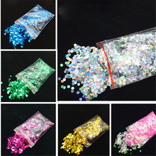 Nail Shinning Sequins 10pcs Hexagon Laser Mermaid Flakes Glitter Tips Mixed Color 3D DIY Crafts Manicure Art Decorations