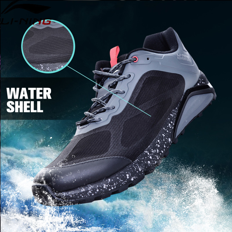 Li-Ning Men Revenant ITF Trail Running Shoes Outdoor Sneakers Cushion Anti-Slippery LiNing Adventure Sports Shoes ARDM009 XYP601 sneakers running shoes sports men and women shoes rubber sole anti skid wear student shoe low upper waterproof air cushion hot