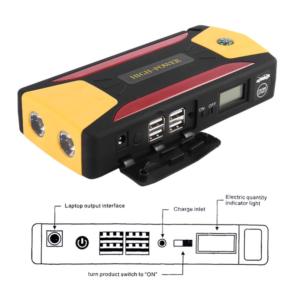 12V 600A 8000mAh Portable Car Jump Starter Battery Booster with USB Power Bank LED Flashlight for Truck Motorcycle Boat Hot Sale 20000mah portable car jump starter battery booster with usb power bank led flashlight for truck motorcycle boat