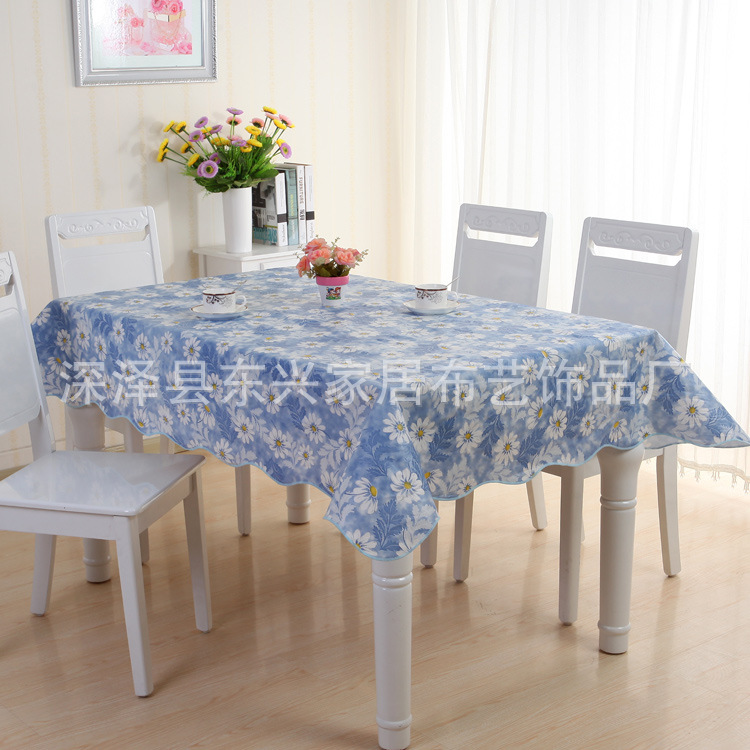 Pvc Plastic Waterproof And Oil Resistant Tablecloth Round Rectangular Garden Table Coffee Cloth Printing Simple ...