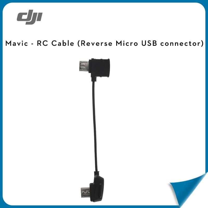 (In stock)100% Original DJI Mavic RC Cable (Lightning/Standard Micro USB/Type-C/Reverse Micro USB connector) for Mavic Drone