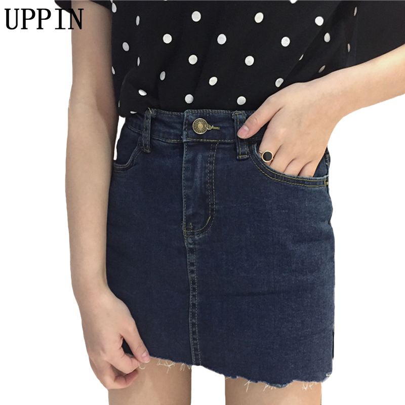 Black Ripped Denim Skirt Promotion-Shop for Promotional Black ...