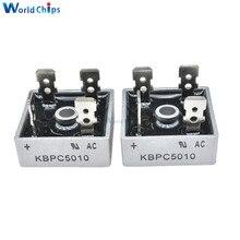 5 шт. KBPC5010 диодный мостовой выпрямитель диод 50А 1000 В кбпц 5010 силовой выпрямительный диод electronica componentes