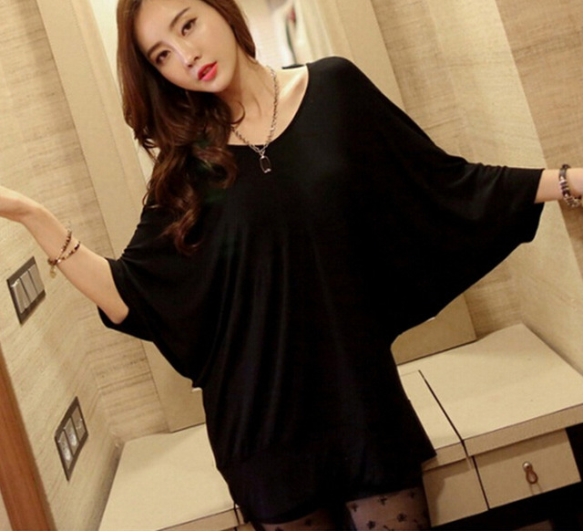 fa0b38c0934 2017 Summer Fashion Bat Sleeves Lace Up T Shirt Women Sexy O-Neck Back  Hollow Out Top Casual Basic Female T-shirt Plus Size 5XL