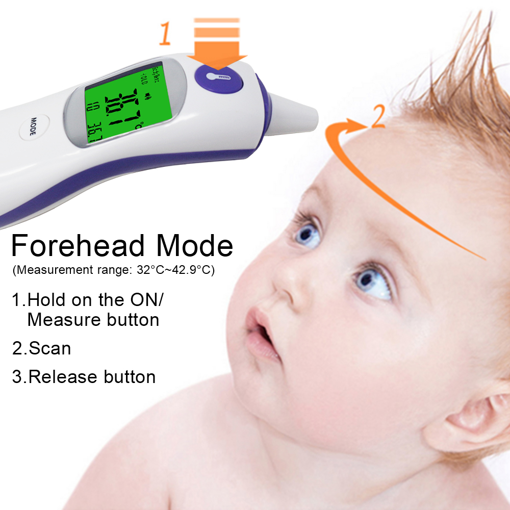 Digital Non Contact Infrared Thermometer for Accurate Temperature Measurement of Human Body