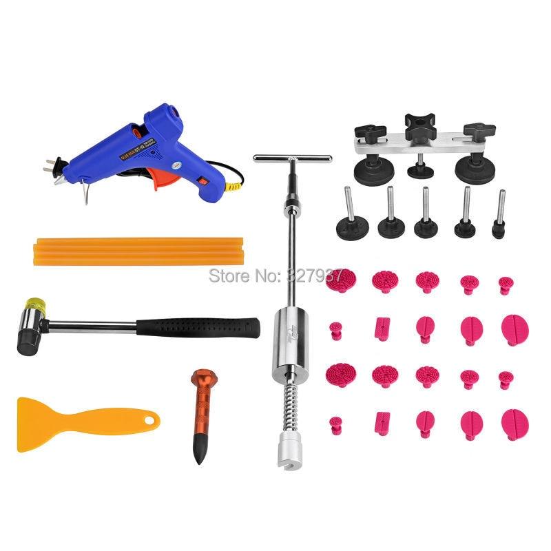 ФОТО PDR Tools Dent Removal Paintless Dent Repair Dent Puller Kit Pulling Bridge Puller Tabs PDR Glue Hand Tool Set Ferramentas