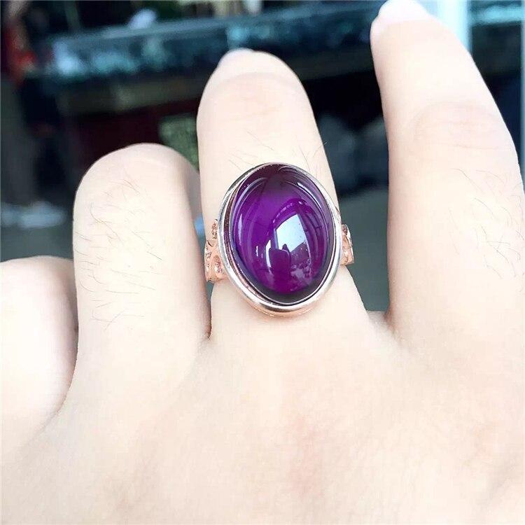 Cristal couleur de l'amour argent plaqué or Rose changeante mosaïque oeuf nouille pierre naturelle femelle anneau