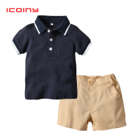Summer Boys Clothing Set Kids Polo T shirt + Pants 2pcs Children Short Sleeve Costumes School Boys Casual Sports Clothes Set