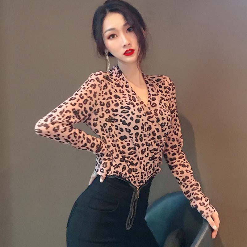 328eec373488 Sexy Leopard Print Shirt Casual Long Sleeve Loose Tops Stylish V Neck  Womens Leopard T Shirt - Online Shopping For Electronics , Apparel,  Computer and more