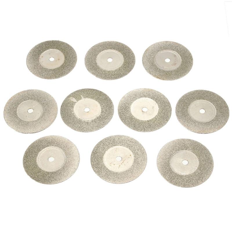 10vnt. / Rinkinys 30mm sidabro pjovimo disko su mažais deimantiniais - Ašmenys pjūklams - Nuotrauka 6
