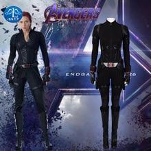 Avengers End Game Black Widow Cosplay Costume Captain America Halloween 4 Natasha Romanoff  Jumpsuit Suiit