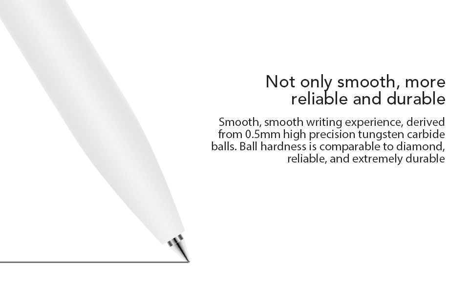 Original-Xiaomi-Mijia-Roller-Pen-with-0.5mm-Swiss-Refill-120-Degree-Rotation-143mm-Rolling-Ball-Pen-White-(5)