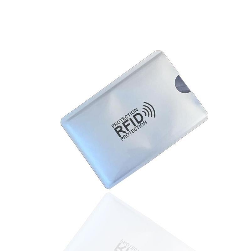 10 шт. анти-магнитных карт рукав Degaussing банк держатель для карт Nfc Противоугонная щетка идентификационная карта Анти Rfid карта рукав