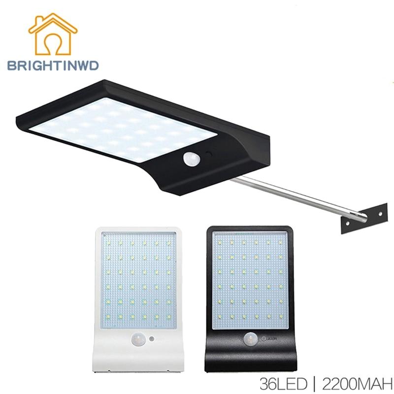 Solar Light 36led 450LM PIR Motion Sensor Powered Street Lamps Garden Outdoor Led Waterproof Wall IP65