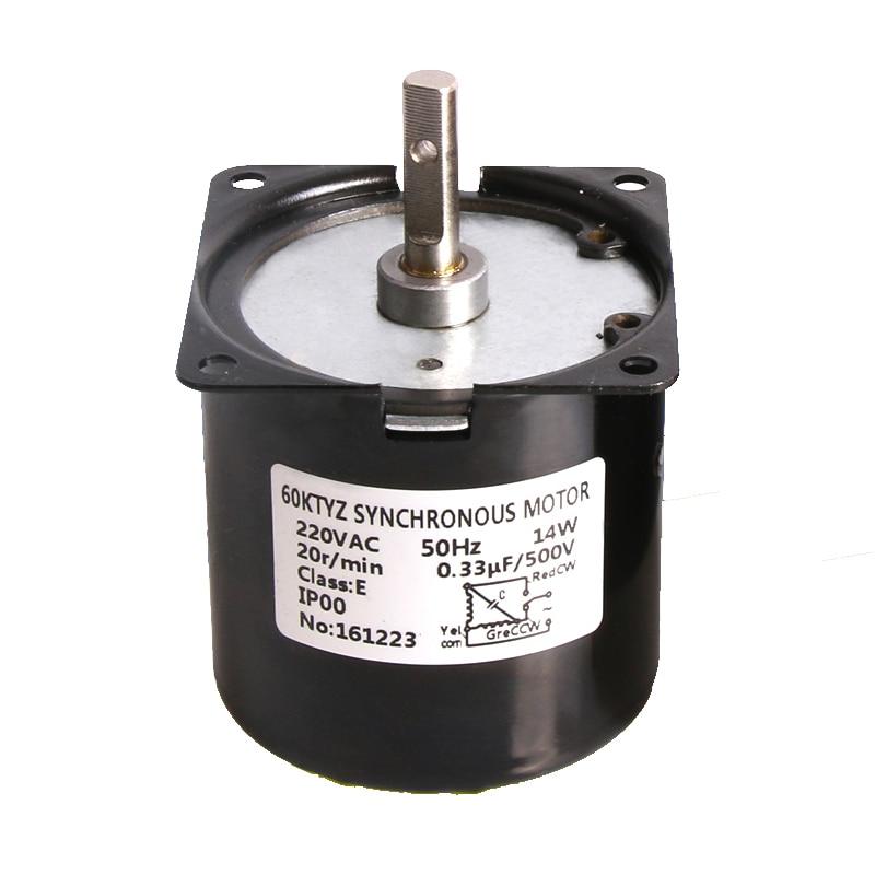 60KTYZ Permanent Magnet Synchronous Motor low speed AC220V 14w 1.2rpm~110rpm 0.5A PMSM Motor цена