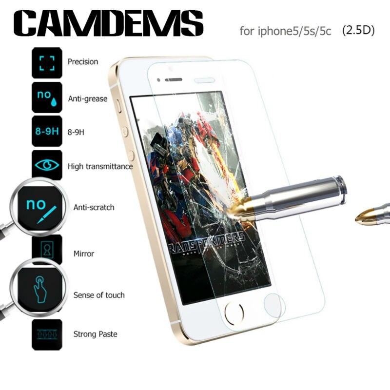 imágenes para CAMDEMS 200 unids/lote Ultra thin 0.3mm Templado Superior de Cristal protector de la pantalla para iphone 7 7 plus 6 s 5 5S sí 4S protectora película