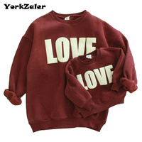 New Design Autumn And Winter Baby Girl Sweater With Velvet Print LOVE Long Sleeve Cotton Sweater