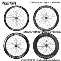 OEM Carbon Bike Wheelset 38 50 60 88mm 23 25mm Clincher Tubular Tubeless NOVATEC A271 POWERWAY