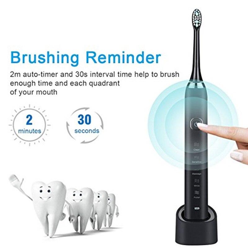 Sarmocare Ultra sonic sonic Elektrische Zahnbürste Wiederaufladbare S100 5 modelle Drahtlose IPX7 Wasserdichte Vibrator Für Zahnbürsten