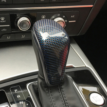 Free Shipping High quality Carbon Fiber Gear head Cover lever gear shift knob For Audi A6 A6L A7