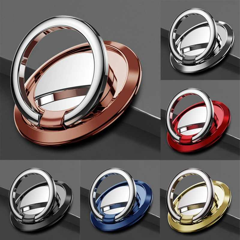 Spin Rotatable Thin Magnet Finger Ring Mobile Metal Phone Holder for Magnetic Smartphone Stand for IPhone All Phone