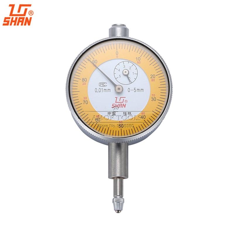 SHAN Dial indicator 0 5mm 0 01mm Small Dial Test Gague Aluminum Body font b Caliper