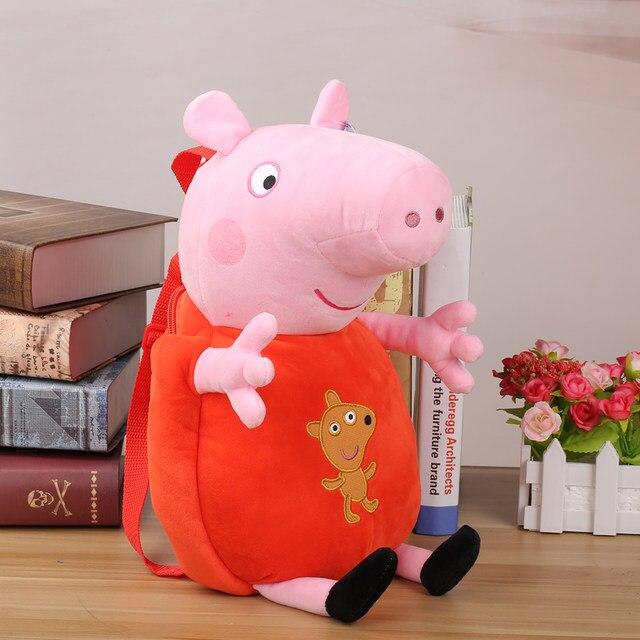 Original Peppa Pig Brinquedos de Pelúcia Meninas Meninos Crianças Saco  Kawaii Saco de Escola mochila 44 cm Peppa George Dos Desenhos Animados  Stuffed Plush ...