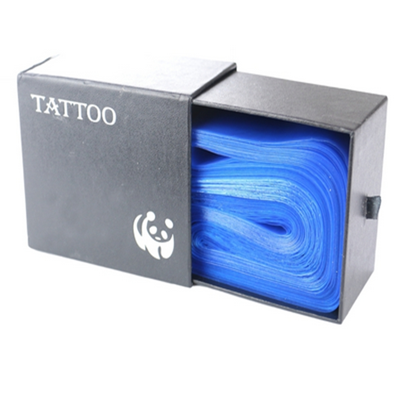 125 stk Yuelong Plastic Blue Tattoo Clip Klemmehylster Dækker Tasker Supply New Professional Tattoo Tilbehør Accessoire de Tatoo