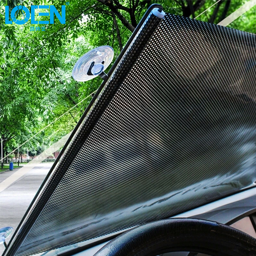 LOEN  40/45/50/58/68*125CM Car Windshield Sunshades Auto Sunshade Side Window Sunshades Big Size Roller Telescopic Suction Cup