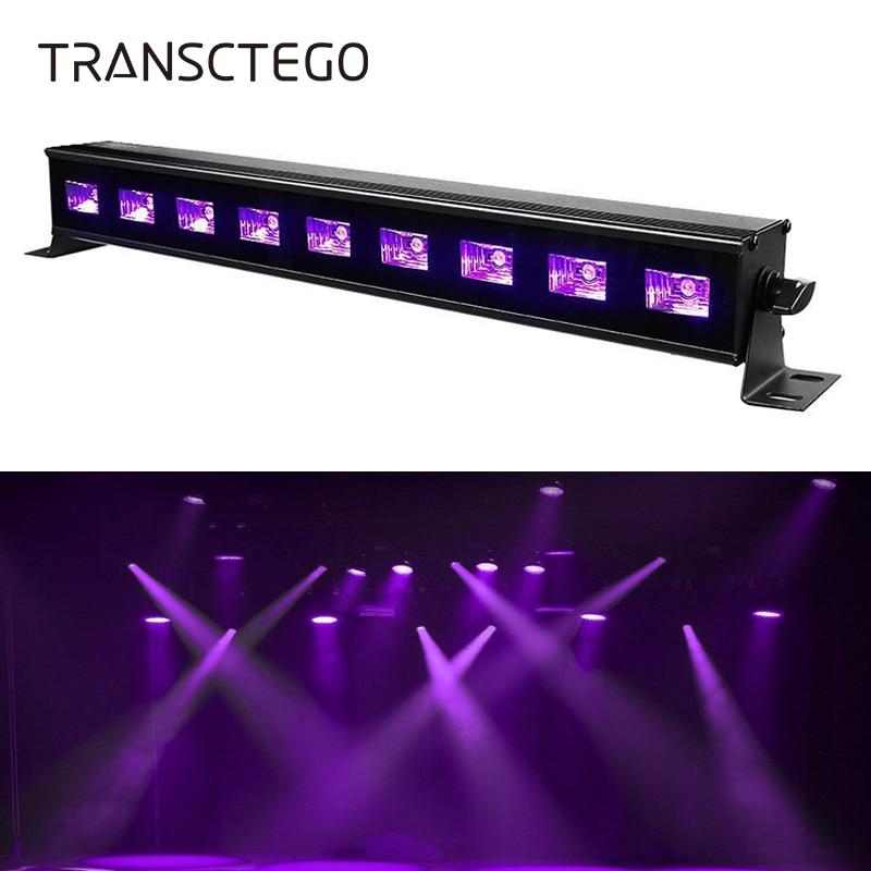 9 LED UV Bar Lamp Disco Light 27W Violet Purple Black Light Stage DJ Glow in