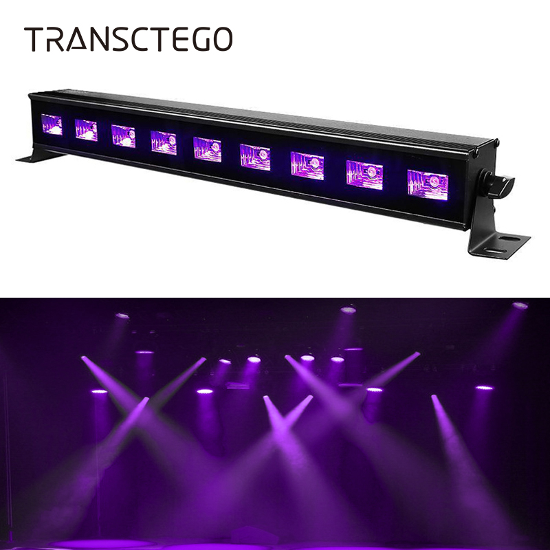 9 LED UV Bar Lamp Disco Light 27W Violet Purple Black Light Stage DJ Glow in Dark Party Lamp for Halloween Blacklight Christmas fashionable water resistant glow in dark wrist watch black white 1 x lr626