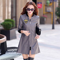 Autumn new Women faux sheepskin coat casual wild   uniform jacket long Autumn pu leather jacket women deals for today