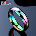 Steel soldier high quality rainbow ring for gay fashion popular jewelry stainless steel unique men ring