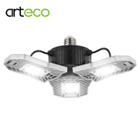 AC 110 220V Deformable Lamp E27 LED Bulb High Intensity 60W 6000LM Parking Lot Industrial Warehouse