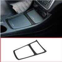 Carbon Fiber Chrome Interior Center Storage Box Trim Ashtray Frame For Mercedes Benz CLA GLA A Class W117 C117 W176 2013 2018
