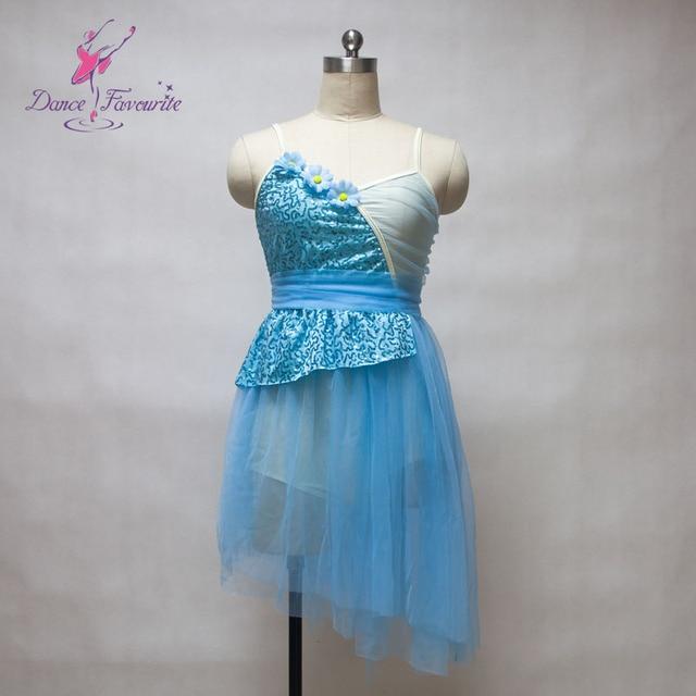 f6ab8c42419d Wholesale Girls Ballet & Lyrical & Contemporary Dance Costume Light Blue  Sequin Dress with Soft Tulle Tutu 11 Sizes T18002