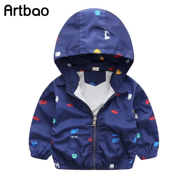 Artbao 2017 Новая коллекция весна и лето детские куртки вскользь с капюшоном дети верхняя одежда/пальто 1-7 Т стиль ветровка куртки для мальчиков CQ03