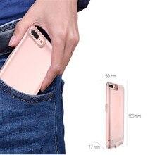 5800/8000 mah внешнее зарядное устройство чехол для apple iphone 7 7 плюс ультра тонкий портативный резервного питания банк держатель крышки случая