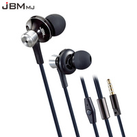 Original JBMMJ 9013 Metal Super Bass In Ear Earphones Volume Control With Mic Headsets For Iphone