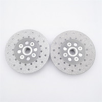 DIATOOL 2pcs Premium Quality Diameter Double Sided Vacuum Brazed Diamond Cutting Grinding Disc With 5 8