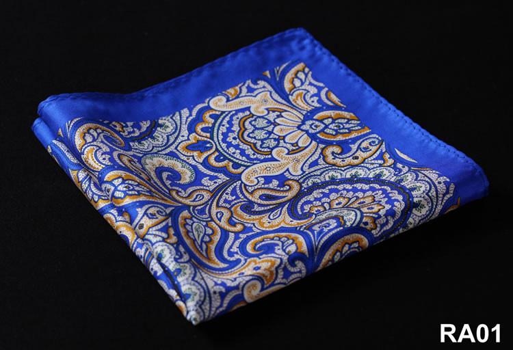 RA01 HN08B1 Blue Yellow Paisley 33cm