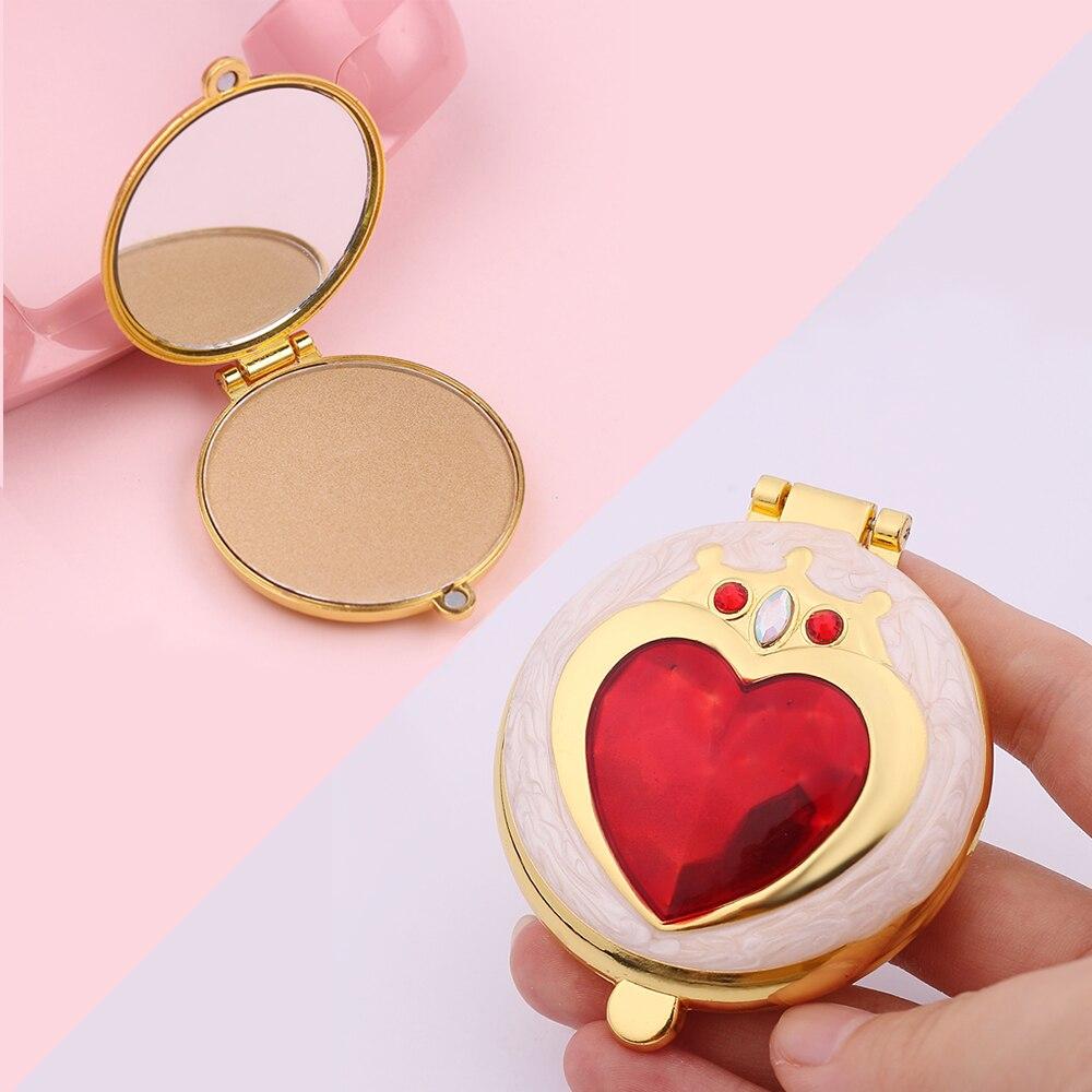 Hot Coração Sailor Moon Rosto Natural Pó Compacto Palette Fundações Mineral Oil-controle Ilumine Corretivo com Sopro 6 Cor