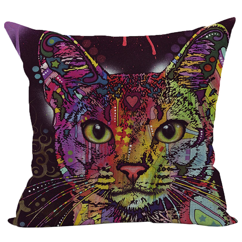 Animal Bed Home Decoration pillowcase Festival Pillow Case Cushion Cover Throw Pillow Cover for Seat Cat Sofa Square 45x45cm