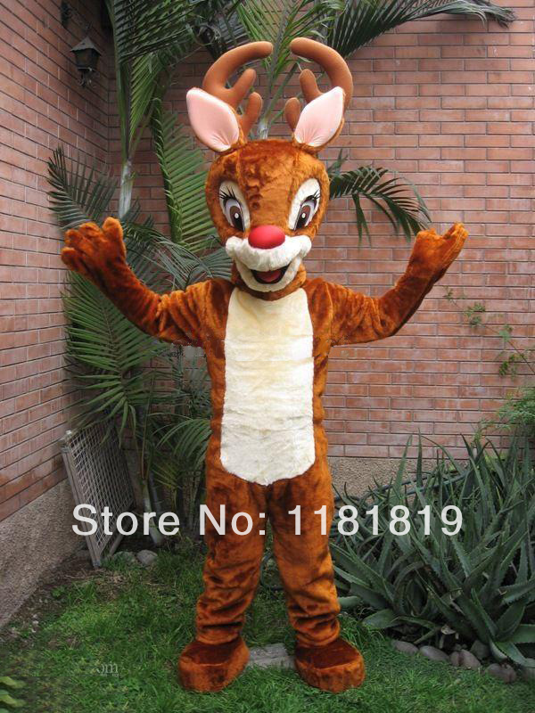 mascot sika spotted deer Mascot costume hot sale Adult size Halloween cartoon character fancy dress carnival costume outfit suit