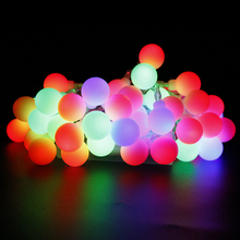TSLEEN 5m/10m LED String Lamp Garland Xmas Christmas Holiday Festival Wedding Ball Light Decorative Garden Table Desk Lamp EU