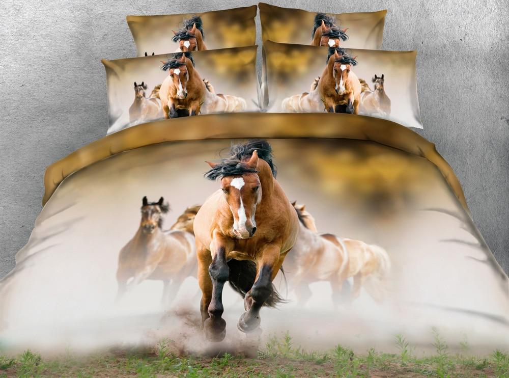 Jf 089 Horse Duvet Covers King Size Literie Bedding Sets 1