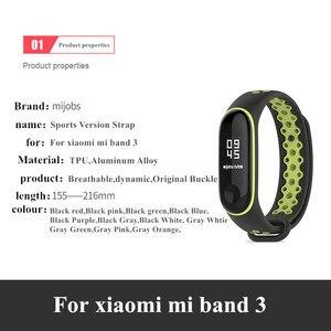 Image 2 - Sport Mi Band 3 4 Strap handgelenk gurt für Xiaomi mi band 3 sport Silikon Armband für Mi band 4 3 band3 smart uhr armband