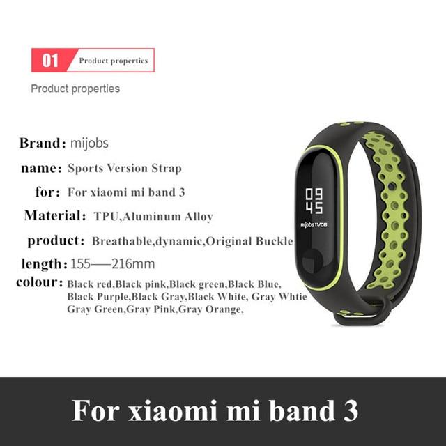 Sport Mi Band 3 Strap wrist strap for Xiaomi mi band 3 sport Silicone Bracelet for xiaomi Mi band 3 band3 smart watch bracelet  1