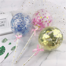 """5 дюймов воздушный шар """"Конфетти"""" торт Топпер украшение с соломенной лентой стол детский душ один день рождения Свадьба шар Топпер"""